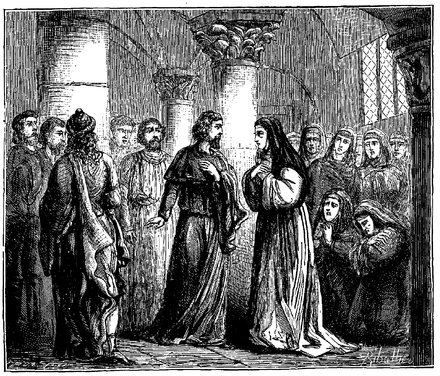 Abelard receives the monastery of the Paraclete Heloise (1129) France illustree I p473.png