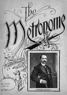 Il violinista Francesco Miglionico sulla copertina della rivista statunitense