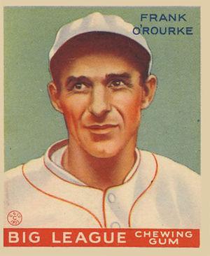 Frank O'Rourke (baseball) - Image: Frank O'Rourke Goudeycard