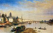 Frankfurt Alte Brücke 1850