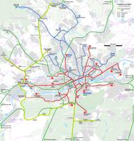 Frankfurt am Main - Streckenführung der geplanten Regionaltangente West.png