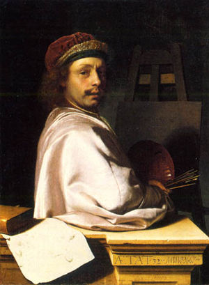 Frans van Mieris the Elder - Frans van Mieris self-portrait.