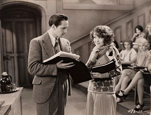 The Wild Party (1929 film) - Fredric March and Clara Bow