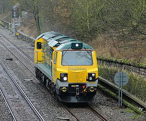 Freightliner class 70 number 70001 leaves Claycross Tunnel.jpg
