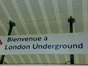 French London Underground sign at St Pancras