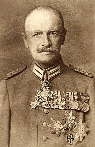 Military Order of St. Henry - King Friedrich August III, wearing a special version of the Grand Cross as a neck badge, the breast star on his left chest, and the Knight's Cross on his medal bar.