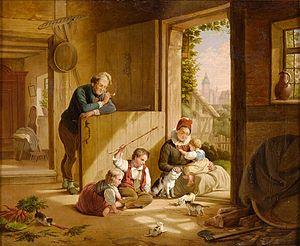 Friedrich Eduard Meyerheim - Häusliches Glück (Domestic Happiness)