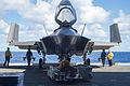 Front view of F-35C Lightning II of VX-23 on USS Eisenhower (CVN-69) in October 2015.JPG