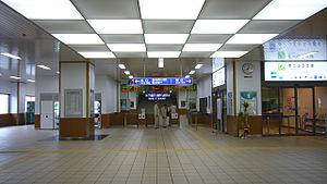 Fukuchiyama Station - Fukuchiyama Station interior, June 2006