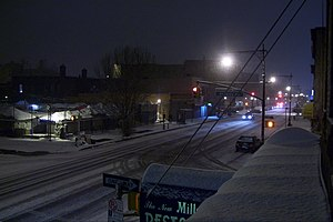 Fulton Street (Brooklyn) - Fulton Street, covered with snow