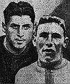 G. Vincent Graule, capitaine du LOU, D. Joseph Choy, capitaine du RC Narbonne, finale du championnat de France de rugby 1933.jpg