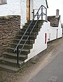 GR postbox set into a flight of steps - geograph.org.uk - 748947.jpg