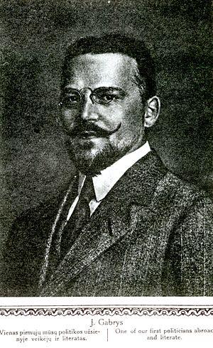 Juozas Gabrys - Gabrys in 1921