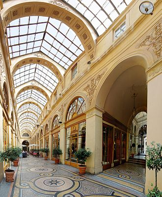 Pedestrian zone - The Galerie Vivienne in Paris
