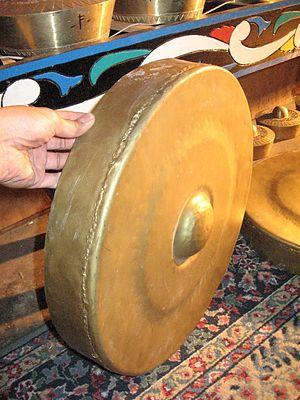 Gandingan - One of the brass gongs of the gandingan