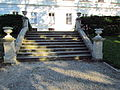 Garden stairs of Chateau in Tavíkovice, Znojmo District.JPG