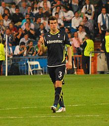 bcfee99caeb Bale playing for Tottenham Hotspur in 2011