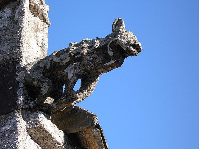 Gargoyle on the Chapelle du Grouanec, Brittany