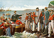 Garibaldi departing on the Expedition of the Thousand in 1860