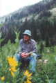 Garniss Curtis in the Wyoming backcountry, 2001 - journal.pbio.1001650.g002.png