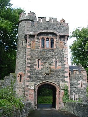 Glenarm - Barbican gate to Glenarm Castle