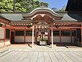 Gate of Shimotsu Shrine in Oyamazumi Shrine.jpg