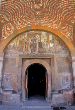 Gayane door and fresco on the tympanum.png