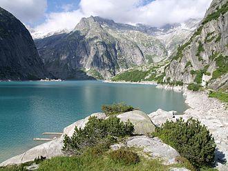 Guttannen - The Gelmersee, one of the reservoirs above Guttannen