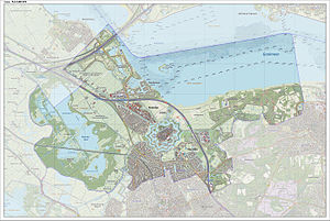 Naarden - Map of the former municipality of Naarden, June 2015