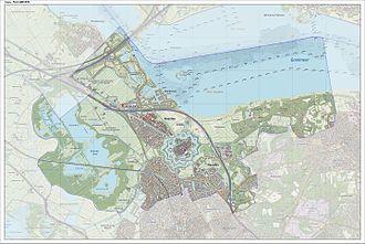 Naarden - Map of the former municipality of Naarden, June 2015