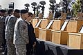 Gen. George W. Casey, Jr. and his wife Sheila honor the fallen heros during a memorial ceremony at Ft. Hood, Texas, Nov. 10, 2009.jpg
