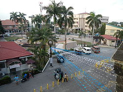 General Trias town plaza with the town hall on the foreground