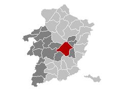 Genk Limbourg Belgique Map.png