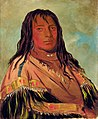 George Catlin - Chá-tee-wah-née-che, No Heart, Chief of the Wah-ne-watch-to-nee-nah Band - 1985.66.79 - Smithsonian American Art Museum.jpg