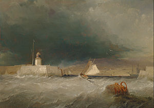 George Chambers (painter) - Port on a Stormy Day