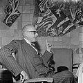George Szell , dirigent, en Clevelandorkest op Schiphol, Bestanddeelnr 908-6780.jpg