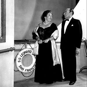 A Majority of One - Gertrude Berg and Cedric Hardwicke in a scene from the play.