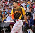 Giancarlo Stanton competes in semis of '16 T-Mobile -HRDerby. (28468365542).jpg