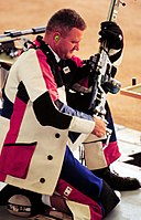 Glenn A. Dubis prepares to shoot from the kneeling position, 2000.jpg