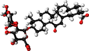 Glycyrrhizin - Image: Glycyrrhizin zwitterion ball and stick xtal 2009