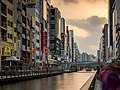 Golden Hour on the Canal - Osaka (41260917955).jpg
