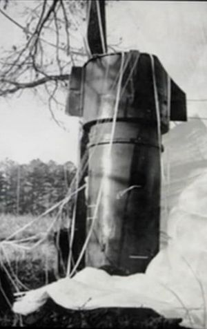 Mark 39 nuclear bomb - A Mark 39 bomb as discovered following the 1961 Goldsboro B-52 crash
