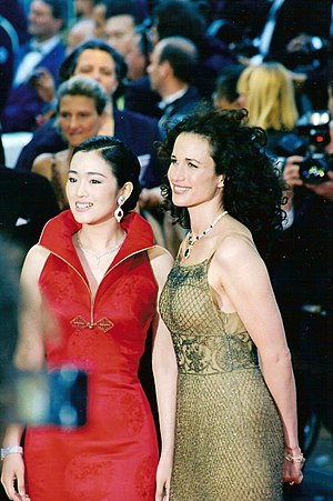 Andie MacDowell - With Gong Li in 1998