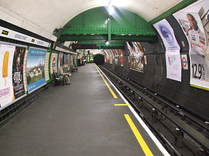 Goodge Street tube station - Image: Goodge Street stn northbound