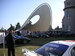 The Renault Central Display at the 2006 Goodwood Festival of Speed. Designed by Gerry Judah