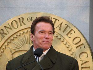 English: Governor Arnold Schwarzenegger.