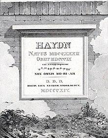 Der von Neukomm gestiftete Grabstein für Joseph Haydn (Quelle: Wikimedia)