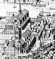 Grande vue de Lyon, de Simon Maupin, 1625 - Détail sur l'église Notre-Dame-de-Confort (et des Célestins).jpg