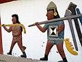 Gravats simulant a la cultura Moche de camí cap al complexe arqueològic del Brujo02.jpg