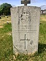 Gravestone of Private E. Jackson of the 8th Battalion Northumberland Fusiliers at Cathays Cemetery, May 2020.jpg